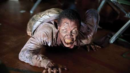 A zombie appears in a scene from the