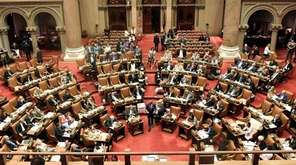 The Assembly chamber at the state capitol as