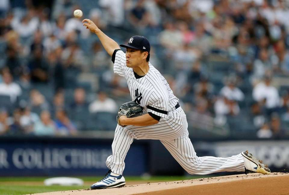 Masahiro Tanaka #19 of the New York Yankees
