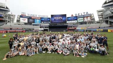 The Yankees kicked off HOPE Week 2019 on Monday
