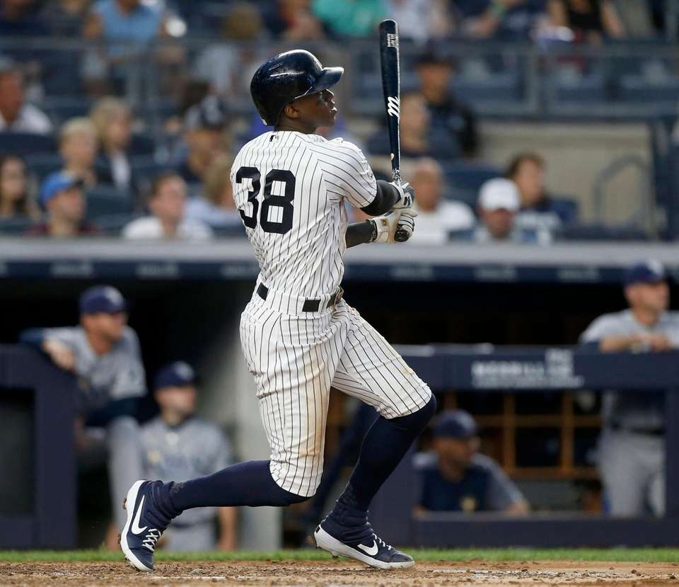 Cameron Maybin #38 of the New York Yankees