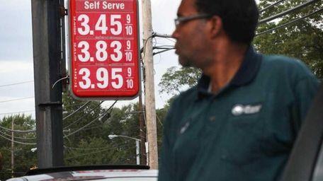 Mejia Manuel of Bay Shore pump $3.45 gasoline