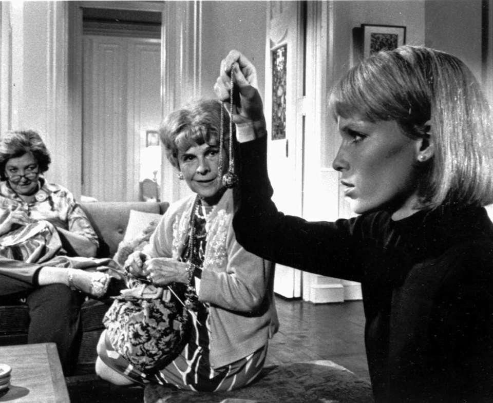 Mia Farrow, right, Ruth Gordon, center, and Patsy