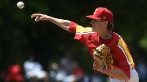 Chaminade pitcher Logan Koester in the bottom of