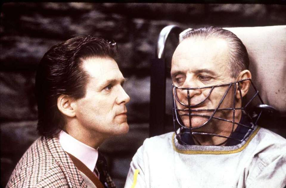 Anthony Hopkins, right, as Dr. Hannibal Lecter in