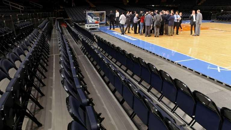 New seats are now on the floor of