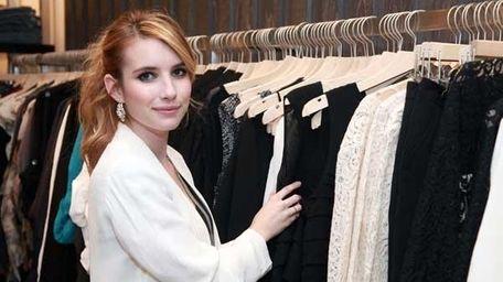 Emma Roberts attends the Denim Habit NYC Grand