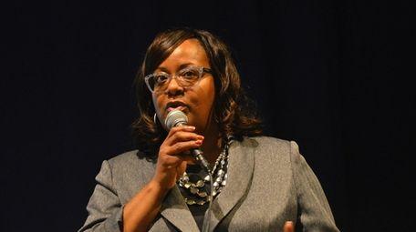 Hempstead's Acting Superintendent Regina Armstrong on Feb. 14.