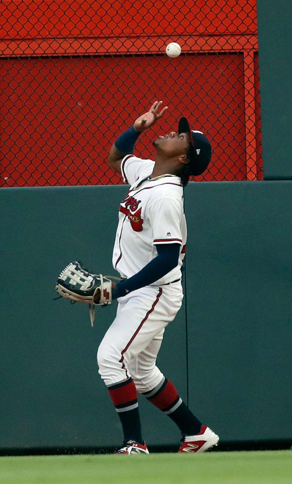 Atlanta Braves centerfielder Ronald Acuna Jr. bare hands