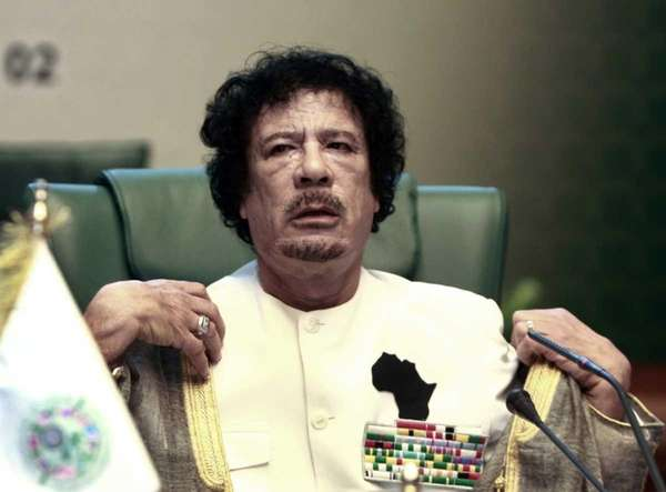 Gadhafi body stashed in shopping center freezer