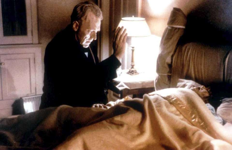 Max Von Sydow and Linda Blair in Warner
