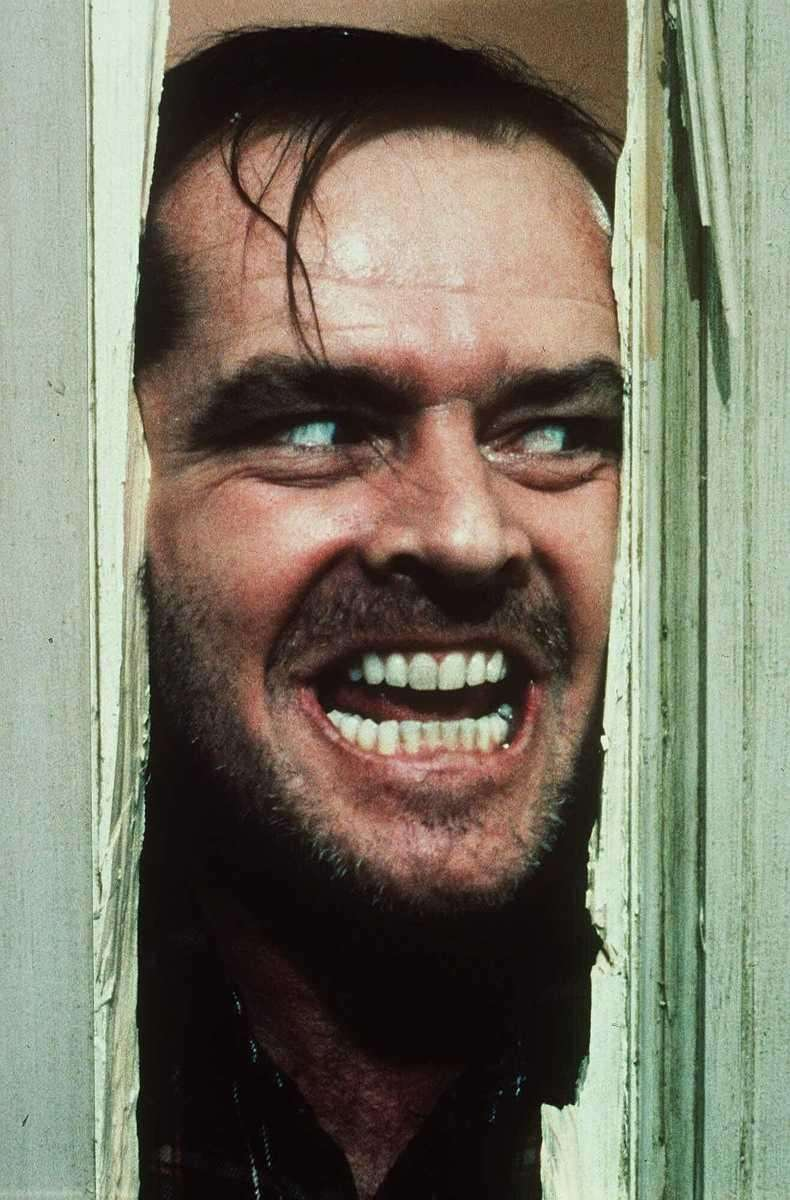 """Heeeeere's Johnny!"" Jack Nicholson is terrifying as Jack"