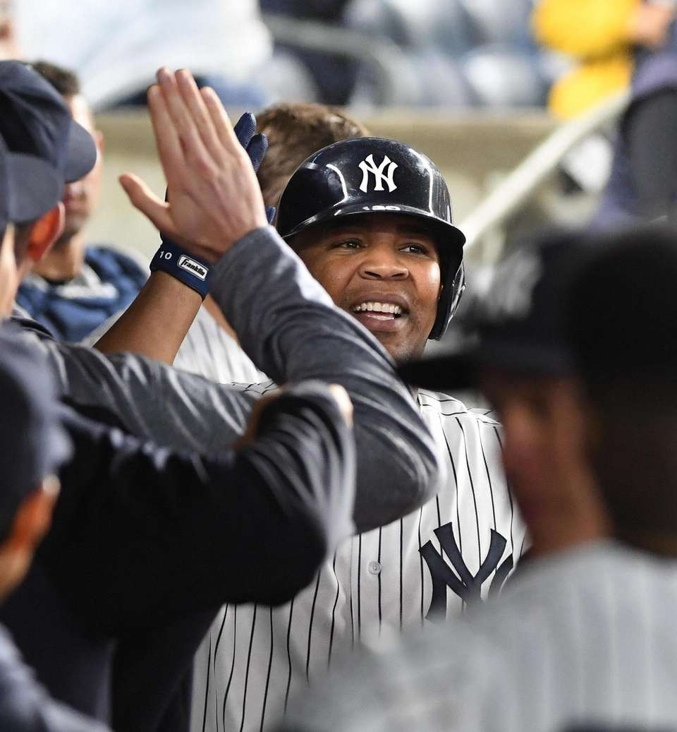 New York Yankees designated hitter Edwin Encarnacion is