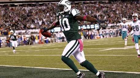 Santonio Holmes of the New York Jets. (Getty