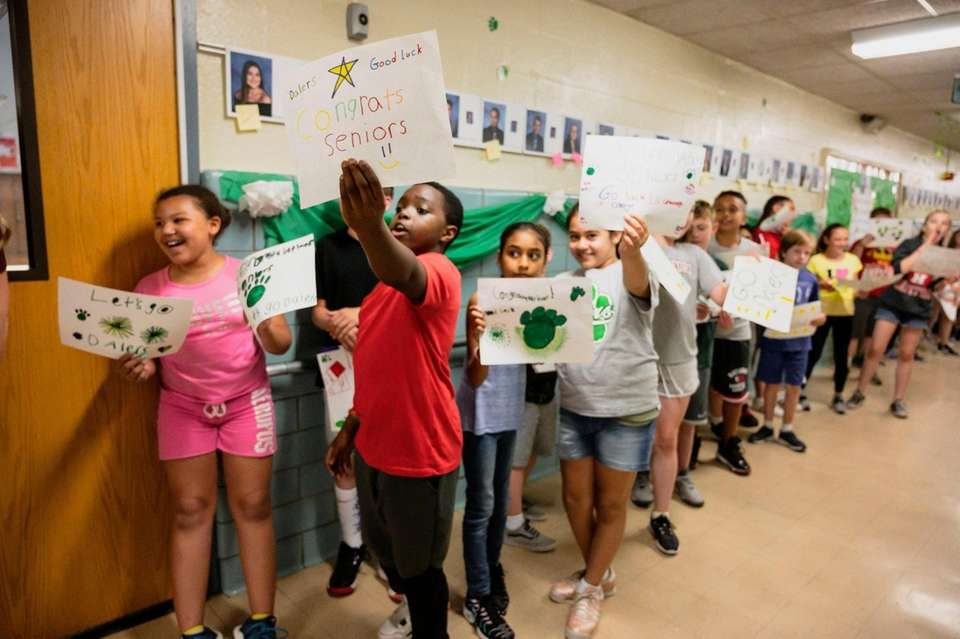 Students at Woodward Parkway Elementary School in Farmingdale