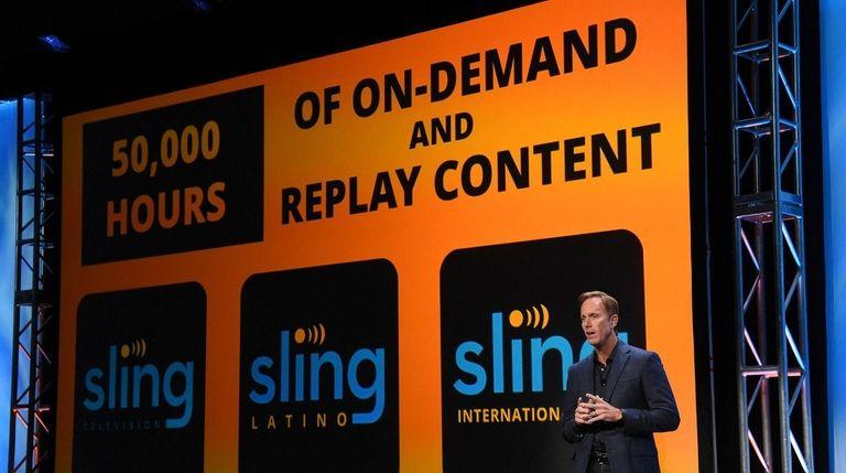 Sling TV LLC CEO Roger Lynch speaks during