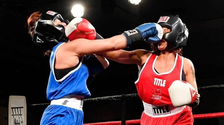 Charity boxers Jane Chen, left, and Genine Triana
