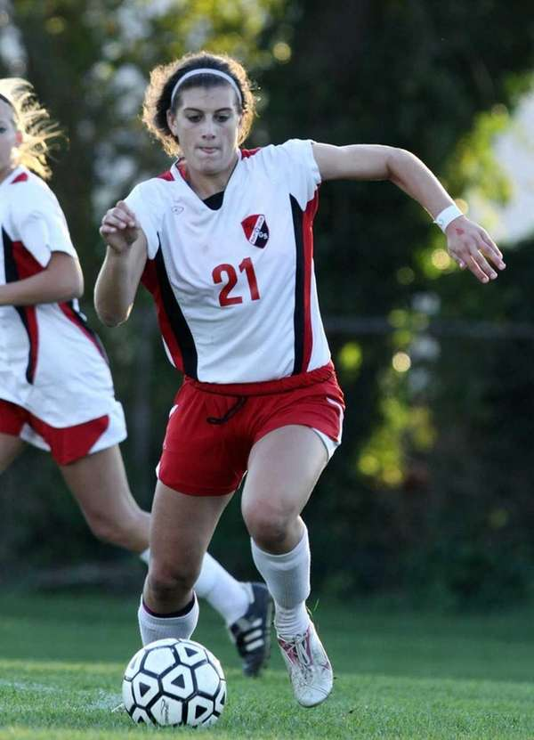 East Islip midfielder Cari Roccaro with the ball
