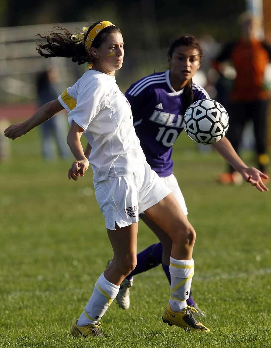 Kings Park's Lydia Ottaviano (6) controls a pass