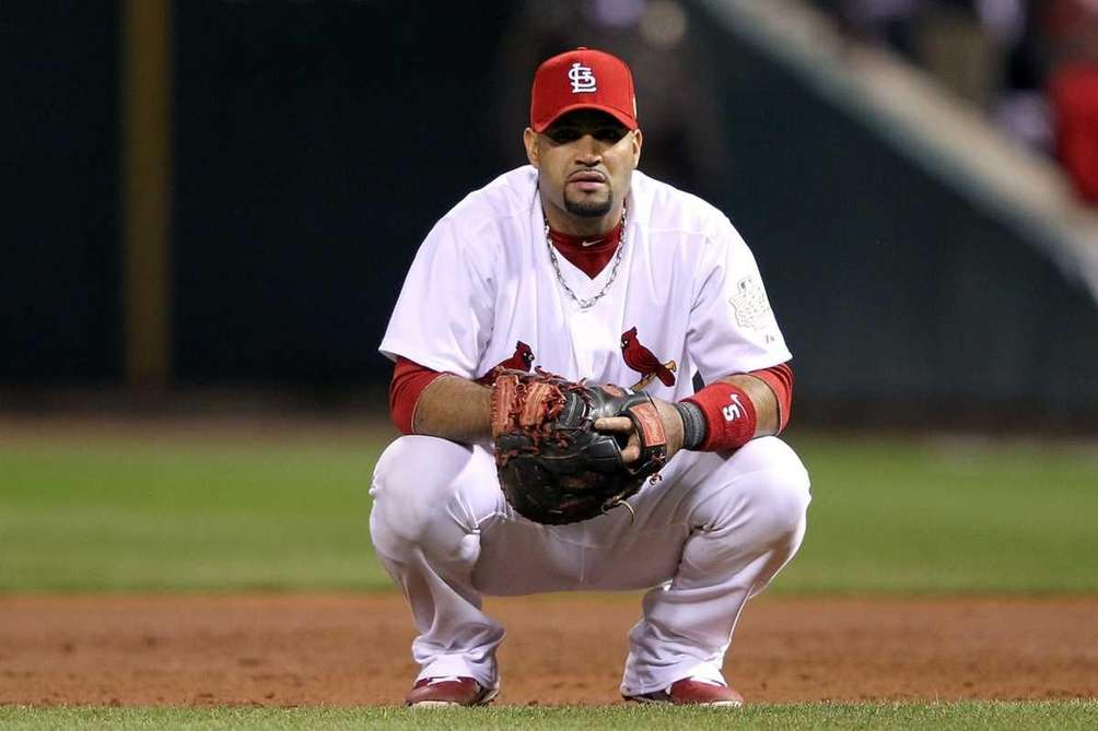 Albert Pujols #5 of the St. Louis Cardinals