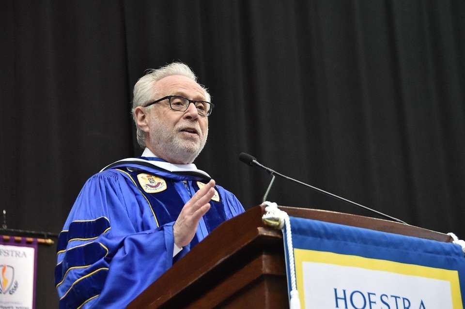 Wolf Blitzer, CNN's lead political anchor speaks at