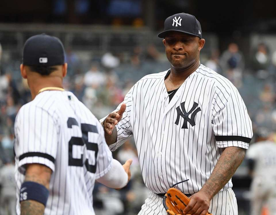 New York Yankees starting pitcher CC Sabathia is