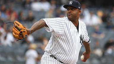 Yankees starting pitcher CC Sabathia against the Tampa