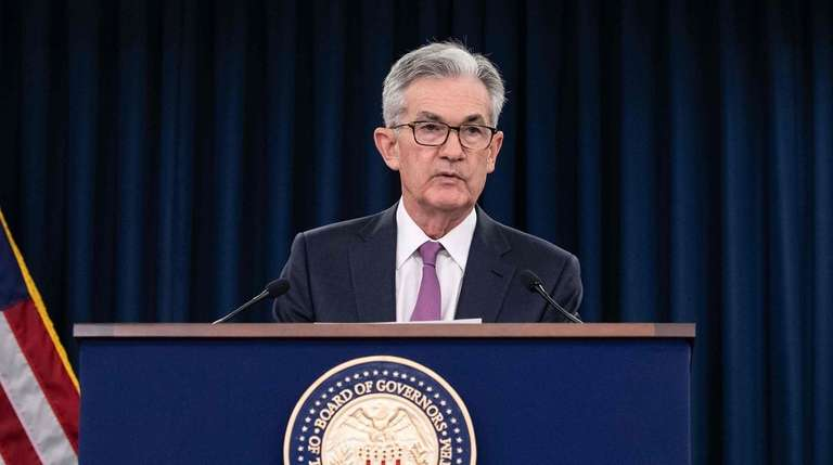 Federal Reserve chairman Jerome Powell seen on Wednesday.