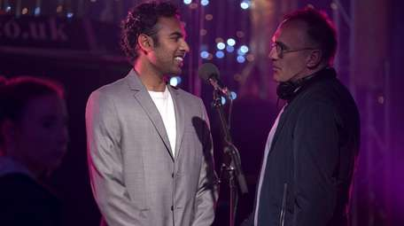 Himesh Patel, left, and director Danny Boyle on