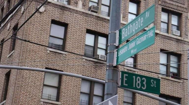 "Bathgate Avenue in the Bronx was co-named ""Lesandro"