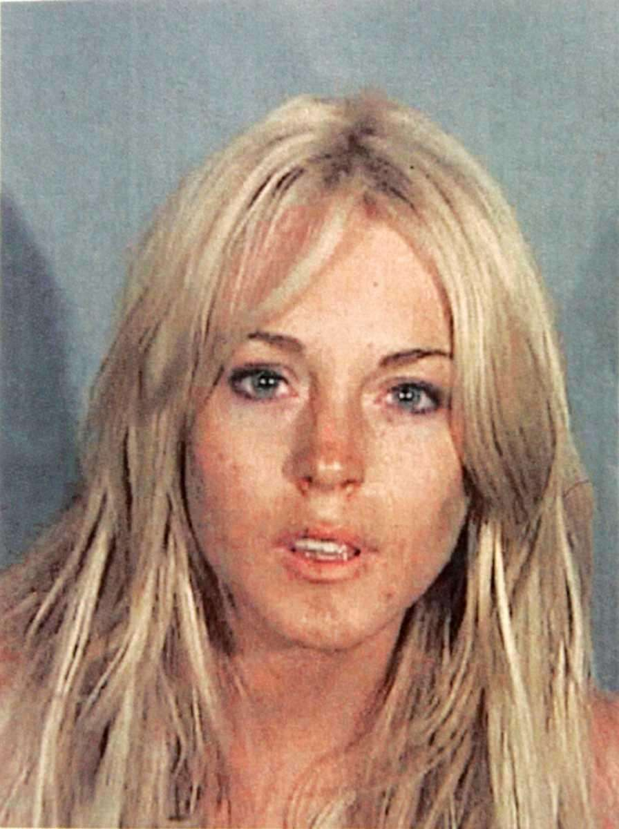 Lindsay Lohan is seen in this police-issued mug