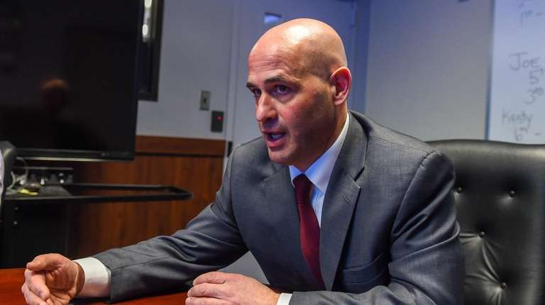Suffolk Chief of Detectives Gerard Gigante at police