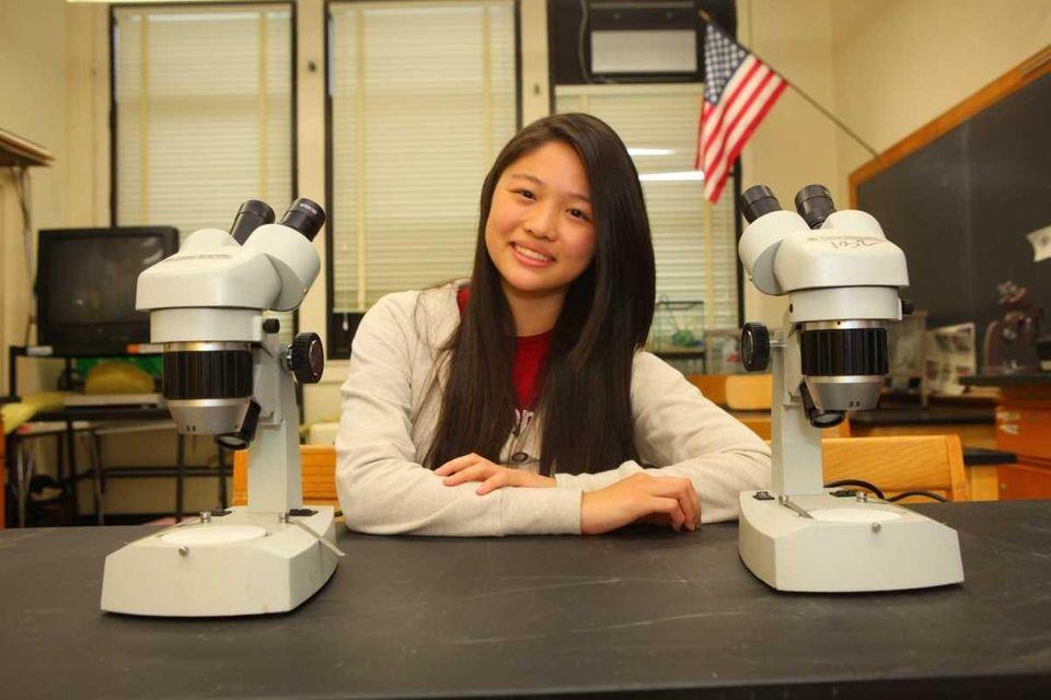 Roslyn High School's Christie Wang is one of