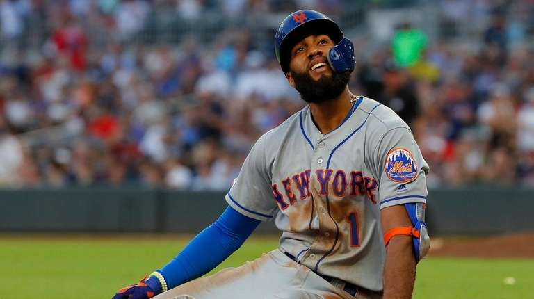 Amed Rosario #1 of the New York Mets