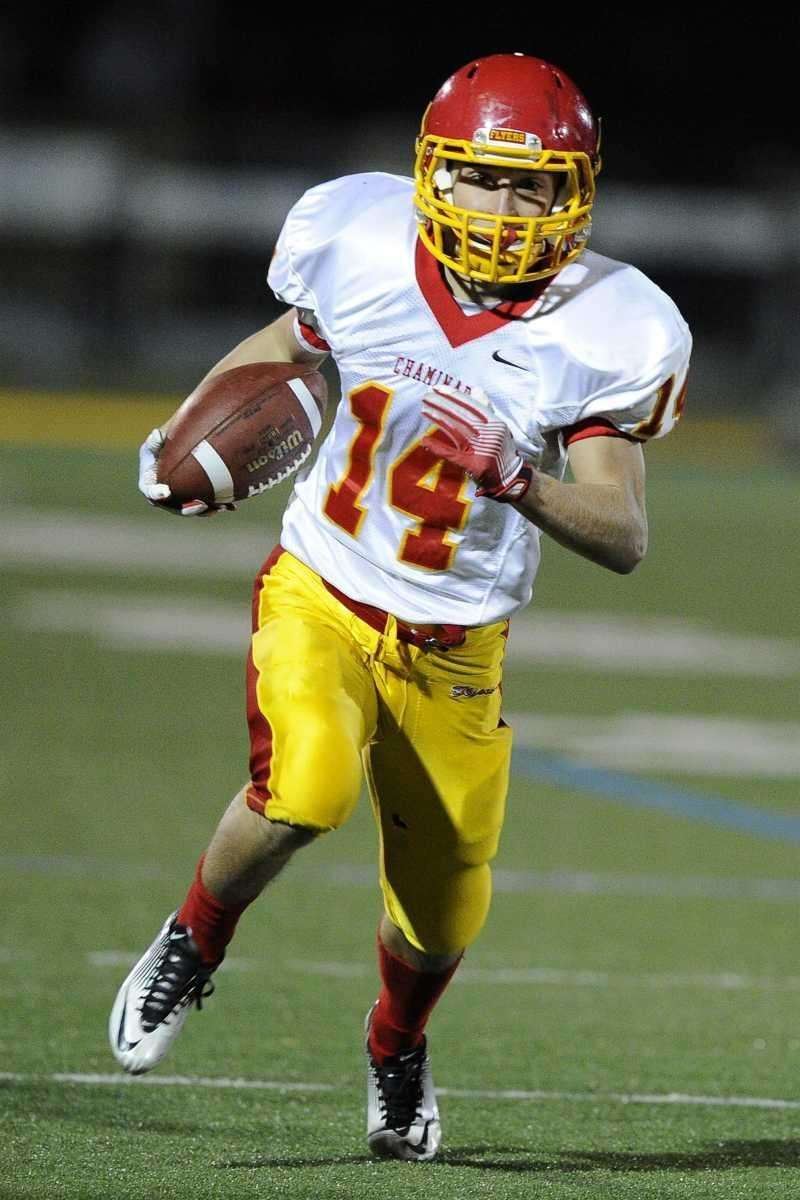 Chaminade RB Matthew Graham breaks to the side