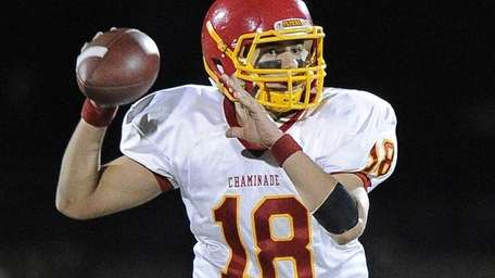 Chaminade quarterback Joseph Anile IV looks for an