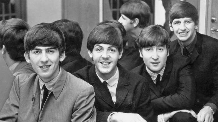 The Beatles, from left: George Harrison (1943-2001), Paul