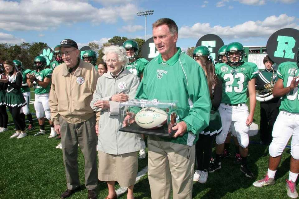 Farmingdale H.S. head football coach, Buddy Krumenacker, is