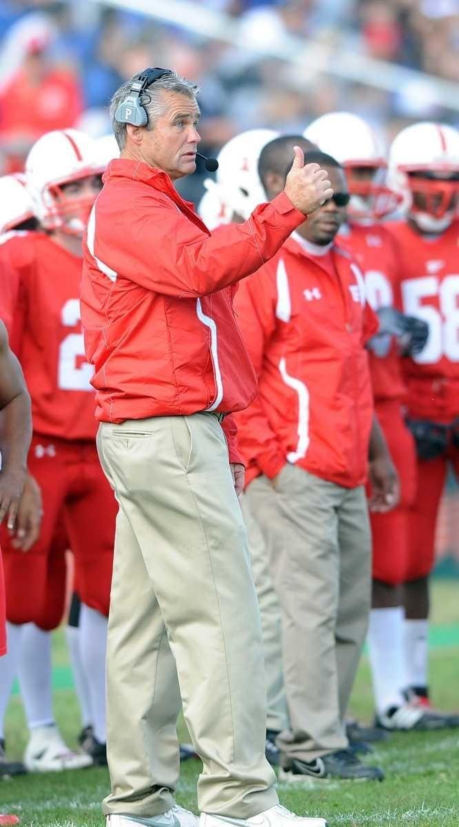 Freeport head coach Russ Cellan coaches his players
