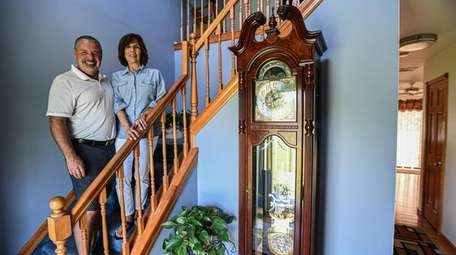 Chris and Maureen Burke at their Manorville home.