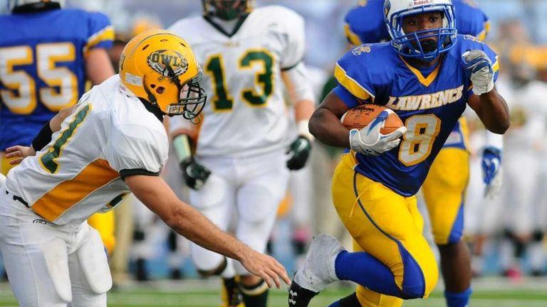 Lawrence High School running back #8 Ryan Fredericks,