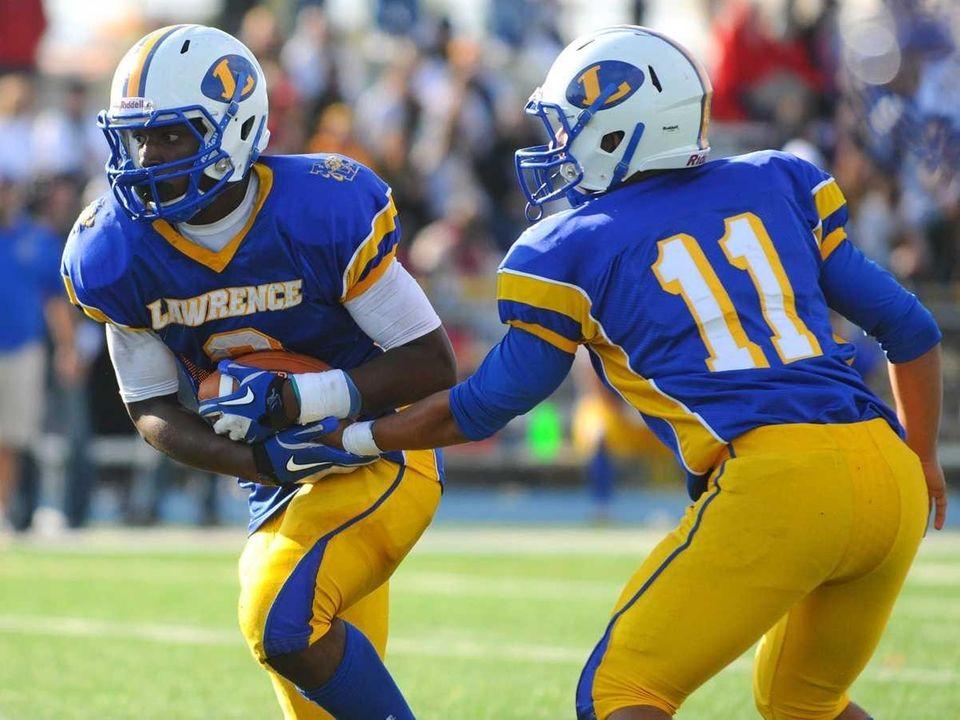 Lawrence High School running back #3 Tyler Fredericks,