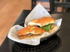 The grilled pork banh mi is one of