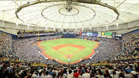 General view of Tropicana field during the sixth
