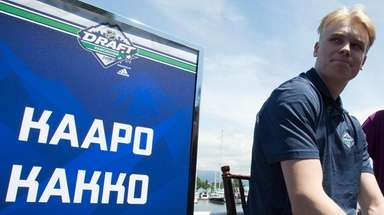 NHL top prospect Kaapo Kakko, of Finland, is