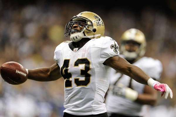 Darren Sproles of the New Orleans Saints celebrates