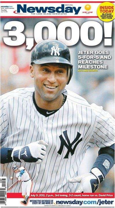 DEREK JETER NOTCHES CAREER HIT NO. 3,000 July