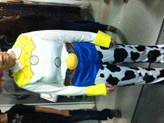 Miriam Strassberg dressed as Jessie from Toy Story