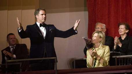 Actor Will Ferrell, who is receiving the nation's