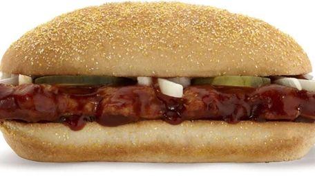 McDonald's McRib sandwich.